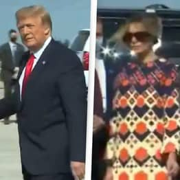 Melania Trump Walks Away From Husband During Final First Lady Photo Op