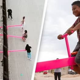 Pink Seesaw For Kids On US-Mexico Border Wins 2020 'Design Of The Year' Award