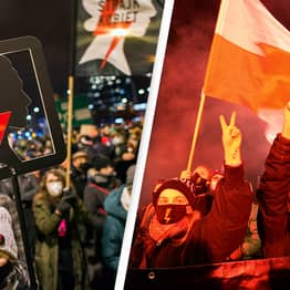 Protests Break Out In Poland As Near-Total Ban On Abortion Comes Into Force