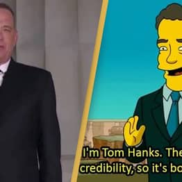 The Simpsons Fans Realise Show Also Predicted Tom Hanks Hosting Inauguration