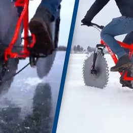 Engineer Builds Icycycle So He Can Cycle On Frozen Lake