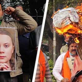 Protesters Burn Greta Thunberg Posters After She Supports Indian Farmers Strike