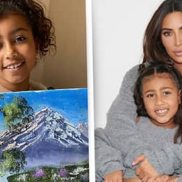 North West Invited To Bob Ross Museum After Kim Shared Her Painting