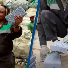 Woman Finds Way To Recycle Plastic Into Bricks That Are Stronger Than Concrete