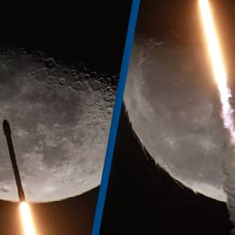 SpaceX's Falcon 9 Rocket Filmed Soaring Past The Moon