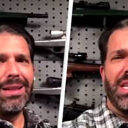 Donald Trump Jr. Criticised For Video Slating Teachers Unions In Front Of Gun Wall