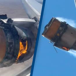 Terrified Passengers Share Video Of Plane Engine Exploding In Mid Air