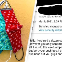 Customer Buys 'Dozen Masks' But Is Furious When They're Sent 12