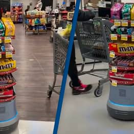 'Mars Bar Rover' Followers Customers Around Stores Tempting Them To Buy Candy