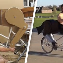 Man Replaces Bike Seat With 'Horse's Butt' So He Can Look Like A Centaur