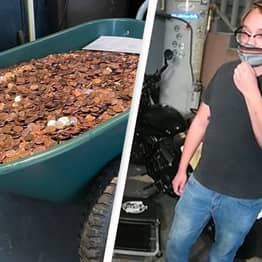 Company Pays Man His Last Pay Cheque In Grease-Covered Pennies