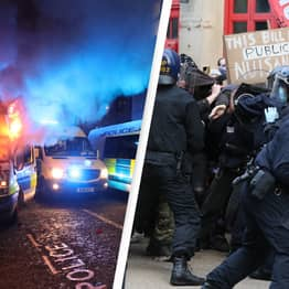 Violence Erupts At Kill The Bill Protest In Bristol As Protesters Clash With Police