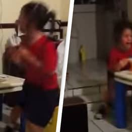 Young Girls Scream And Run In Terror After Spotting Ghost Mother Can't See
