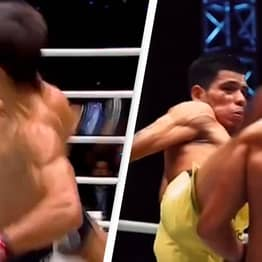 MMA Fighters Perform Incredible Double Dodge And Stop Fight To Congratulate Each Other