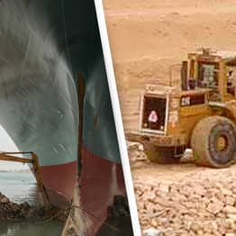 New Video Game Lets You Play As The Suez Canal Bulldozer