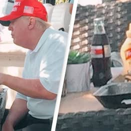 Trump Spotted With Yet Another Coke Bottle Despite Calls For Boycott