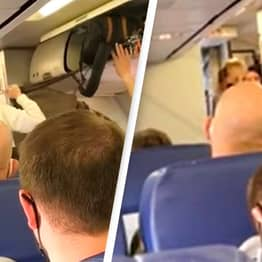Flight Attendant Dances With Joy And Passengers Applaud When Anti-Mask Couple Removed From Plane