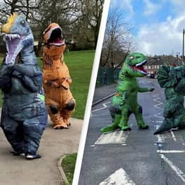 Man Calls Police On Group Of People Dressed As Dinosaurs In Local Park