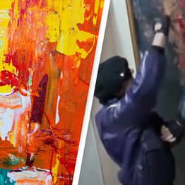 Couple Accidentally Ruin $500,000 Modern Art Exhibit By Painting Over It