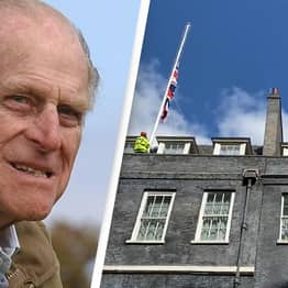 Downing Street Lowers Flag To Half-Mast As Tributes Pour In For Prince Philip