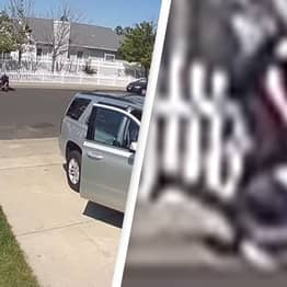 Police Investigating After Doorbell Footage Shows Cop Punching Teen With Autism