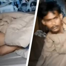 Police In Thailand Have To Wake Thief Up After He Falls Asleep While Robbing House