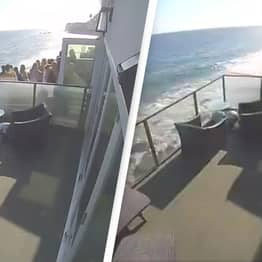 Balcony Full Of People Collapses In Terrifying Video