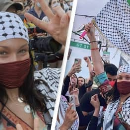 Israel's Twitter Account Furiously Calls Out Bella Hadid For Attending Pro-Palestine March