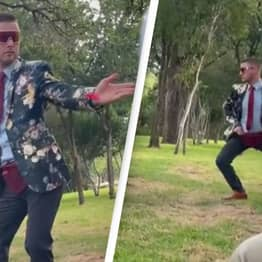 Guardians Of The Galaxy-Inspired Flower Man Steals The Show At Wedding