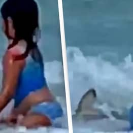 Mum Says 'Soul Left Her Body' When She Saw Shark Circling Her Daughter In Sea
