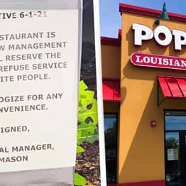 Popeyes Restaurant Forced To Close After Sign Claims To 'Refuse Service To White People'
