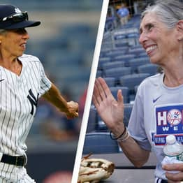 70-Year-Old Woman Fulfills Dream Of Becoming Bat Girl For The Yankees