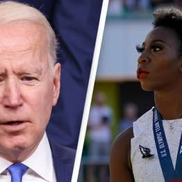 Biden 'Respects' Olympic Athlete's Right To Turn Away From US Flag