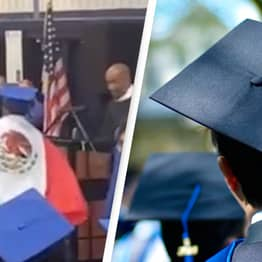 Crowd Boos Principal For Trying To Take Mexican Flag From Student During Graduation