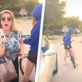 Woman Angrily Demands 'Everything' From Cyclist After Bike Possibly Touches Her Car