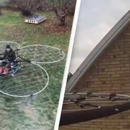 This Guy Just Built A Homemade Rideable Drone And It's Insane
