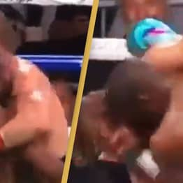 Floyd Mayweather Accused Of Holding Up Logan Paul After Knocking Him Out During Fight