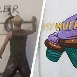 Artist Whose Friend Was Killed By Fascists Covers Racist Graffiti With Cartoons