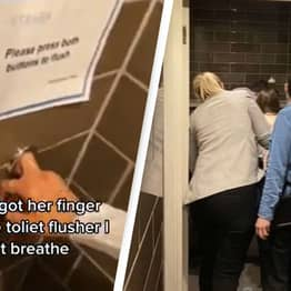 Woman Had To Be Rescued After Getting Finger Stuck In Toilet Flusher