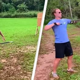 Mark Zuckerberg Just Posted Videos Of Himself Throwing Spears And Firing Arrows