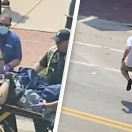 Footage Of Man Escaping Stretcher And Running From Ambulance Goes Viral