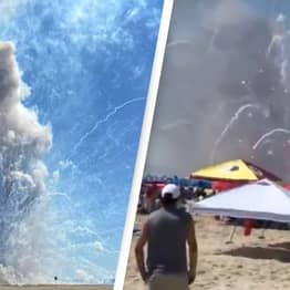 Video Surfaces Of Massive Fireworks Explosion On Crowded Beach In Maryland