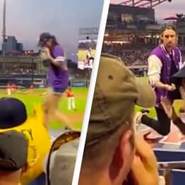 Woman Runs Away From Proposal In Front Of Packed Baseball Crowd