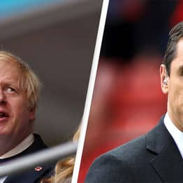 Gary Neville Calls Out Boris Johnson's Hypocrisy After England Players Racially Abused