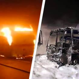 Hero Driver Saves 25 Children Before Bus 'Devoured By Flames'