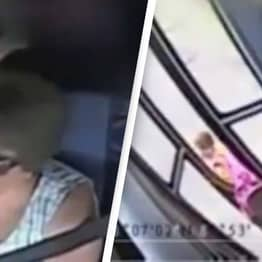 'Oblivious' Bus Driver Almost Costs 6-Year-Old Girl Her Life In Horrifying Footage