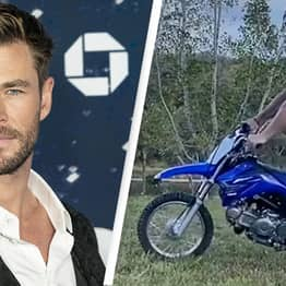 Chris Hemsworth Performs Motorbike Trick 'They Said Couldn't Be Done'