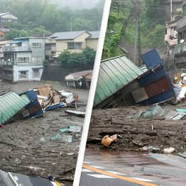 At Least 19 People Missing After Powerful Mudslide Hits Japan