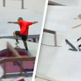 Moment Everyone Was Expecting To Happen At Olympics Skateboarding Painfully Happens