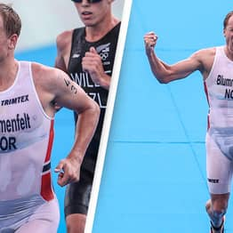 Triathlon Winner Compared To Superman After Swimming Leg Makes His Uniform See-Through
